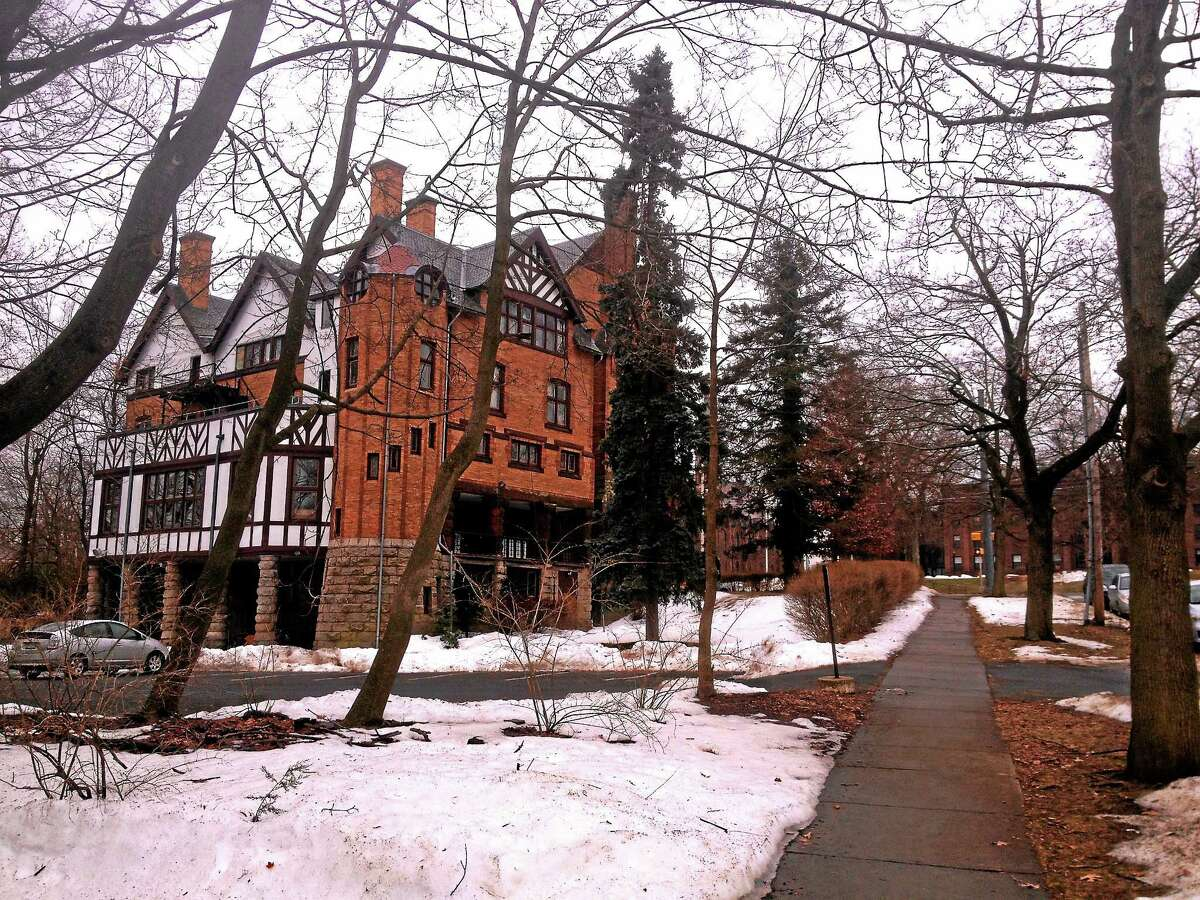 A Wesleyan University student is suing the Psi Upsilon fraternity and Xi Chapter (pictured here), alleging that she was raped at a Psi Upsilon party in May 2013.