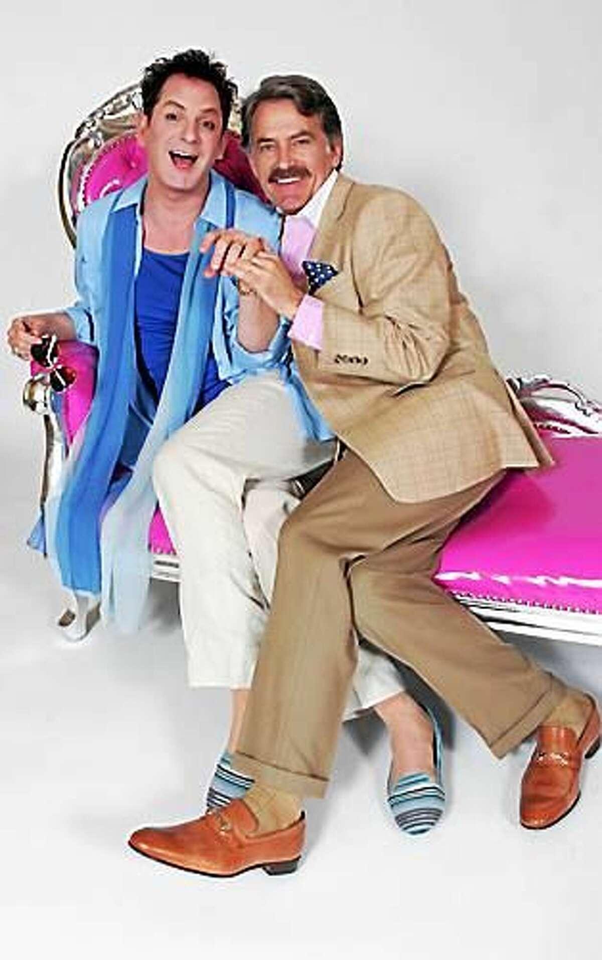 Photo by Diane Sobolewski Jamison Stern and James Lloyd Reynolds in Goodspeed's La Cage aux Folles.