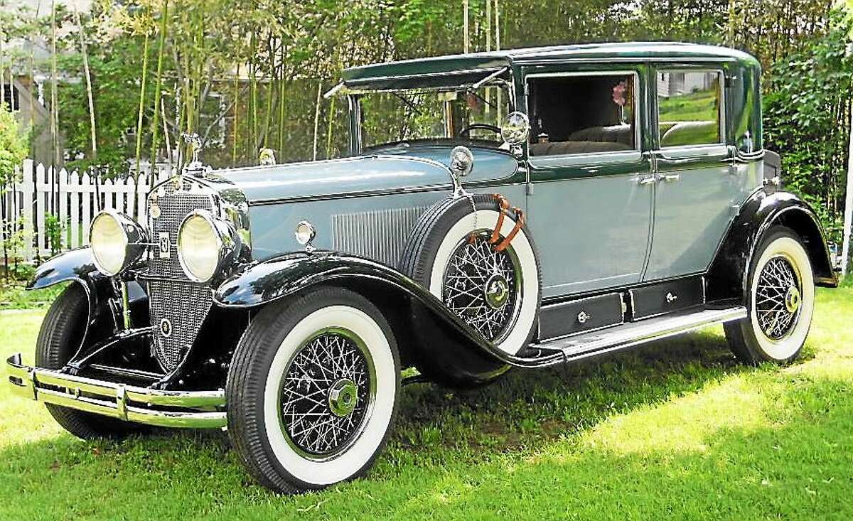 Photo courtesy of Tom Tkacz The 1929 Cadillac, connected to the Lindbergh infant kidnapping, will be on display at the upcoming antique boat and car show in Essex.