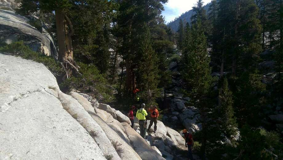 This photo provided by the Fresno County Sheriff's Office shows the area where Miyuki Harwood was found. Harwood, 62, was found Aug. 29, 2015 in a remote area of the Sierra National Forest after she used a whistle to get the attention of a search and rescue team looking for her. Photo: Fresno County Sheriff's Office Via AP  / Fresno County Sheriff's Office