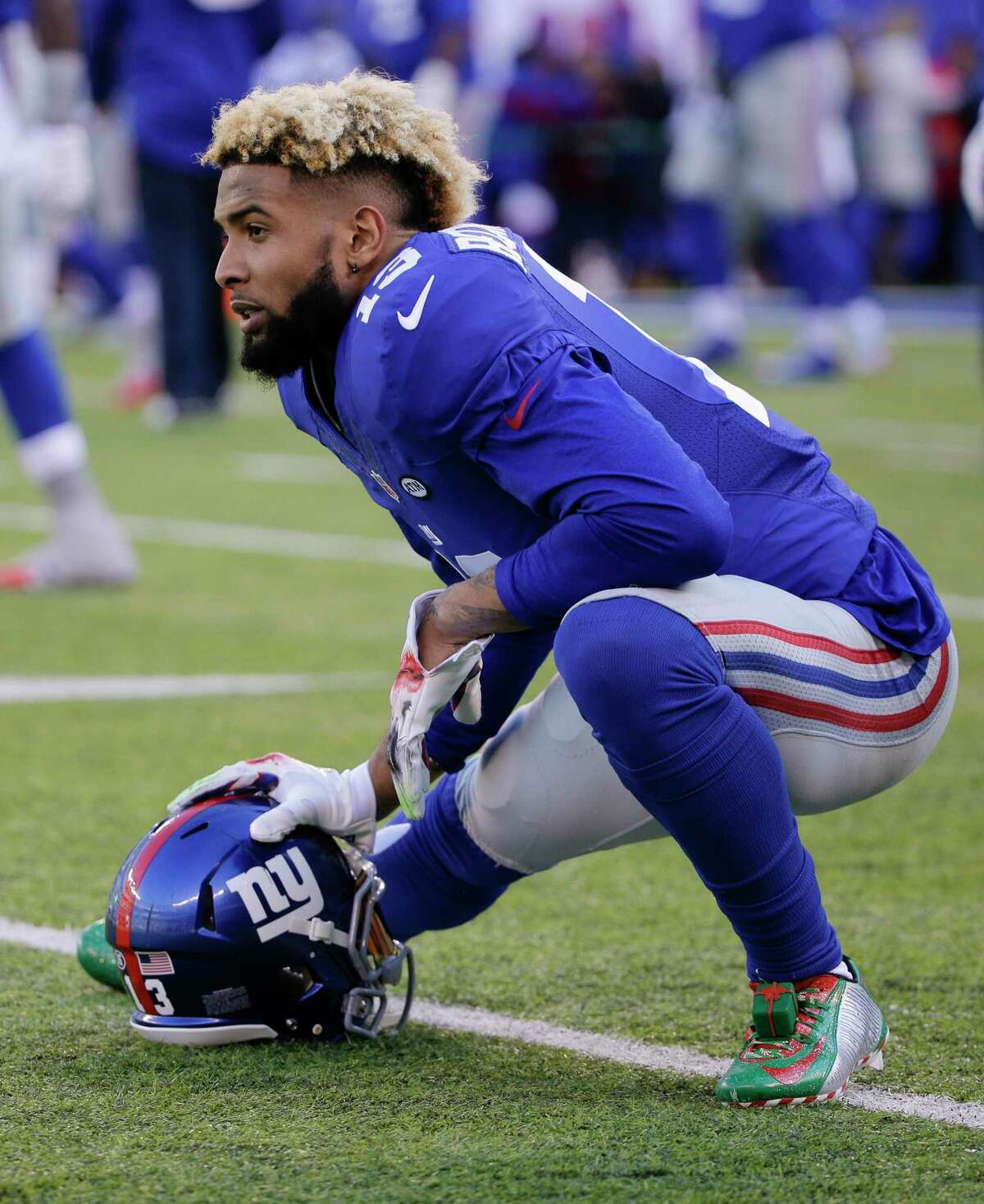 Giants wide receiver Odell Beckham was suspended by the NFL for one game for his conduct in Sunday's loss to the Panthers.