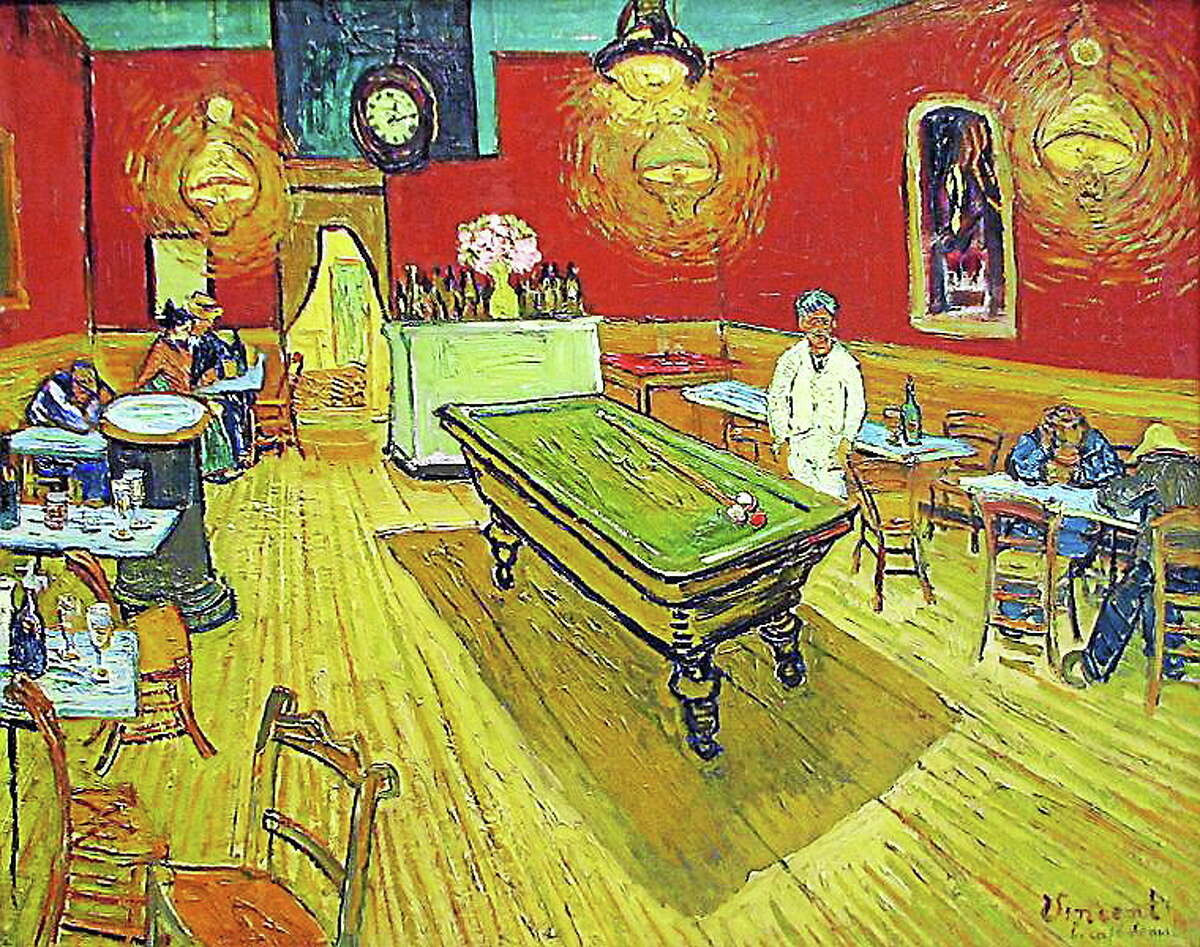 """A photo of the Van Gogh masterpiece """"The Night Cafe,"""" which hangs in the Yale University Art Gallery."""
