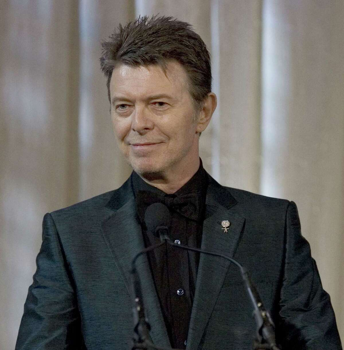 David Bowie attends an awards show in this June 5, 2007 photo taken in New York.
