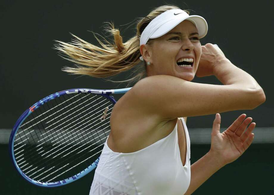 Maria Sharapova is pulling out of the U.S. Open on the eve of the tournament because of a leg injury. Photo: The Associated Press File Photo  / AP