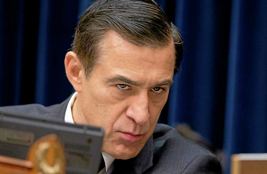 """House Oversight and Government Reform Committee Chairman Rep. Darrell Issa, R-Calif., listens to testimony on Capitol Hill in Washington, Tuesday, June 24, 2014, from panel of witnesses including Jennifer OíConnor of the Office of the White House Counsel who once worked at the IRS, during the committee's hearing on """"IRS Obstruction: Lois Lernerís missing e-mails.""""   (AP Photo/Manuel Balce Ceneta) Photo: AP / AP"""