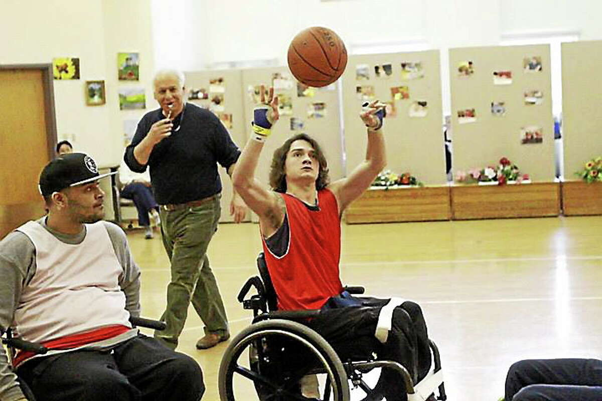 """Sheehan High's Connor Reed, better known as """"Shabazz on Wheels."""""""