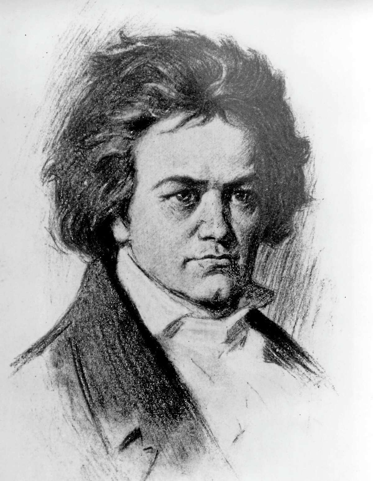 An undated sketch of German composer Ludwig van Beethoven. Beethoven was born in Bonn on Dec. 17, 1770 and died in Vienna on March 26, 1827.