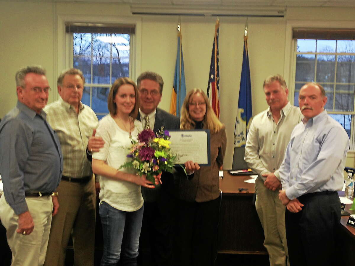 Submitted photo The town of East Hampton awarded a Good Samaritan award to Noble Cummings.