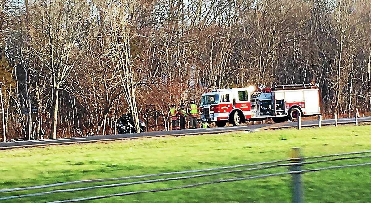 JOE AMARANTE -- NEW HAVEN REGISTER Interstate 91 north was closed down for a time as responders awaited the accident reconstruction team.