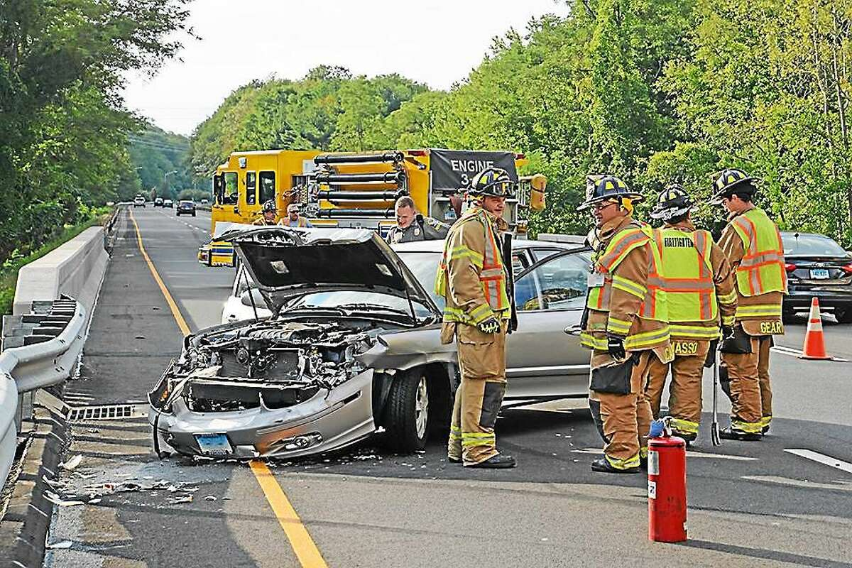 The driver of a sedan lost control of his vehicle Aug. 22 on Route 9 in Haddam
