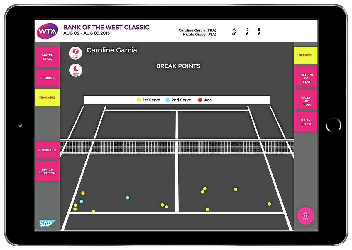 iPads are making their way onto the sidelines of WTA events.