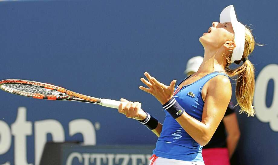 Lucky loser Lesia Tsurenko's luck ran out in the semifinals of the Connecticut Open on Friday against Lucie Safarova. Photo: Bob Child — For The Register
