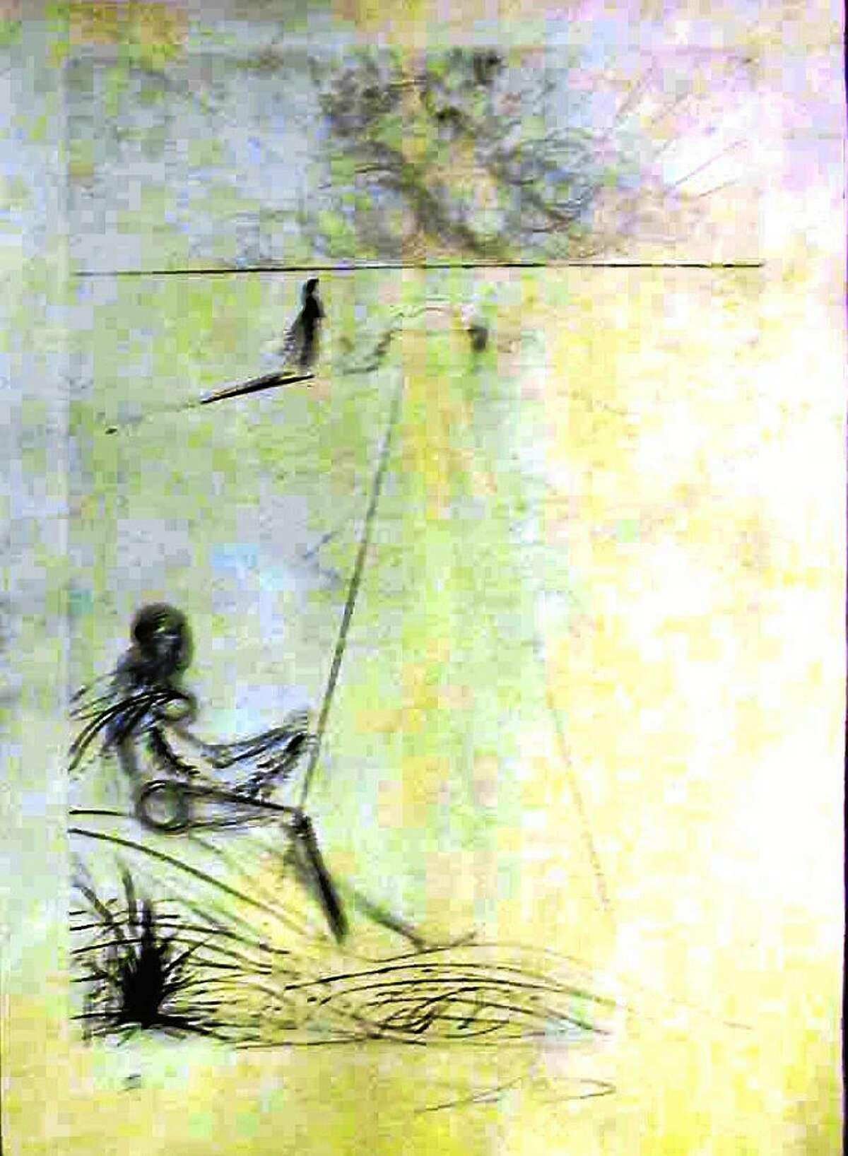 Contributed photos L'Arrivee De La Mousson, Dry Point Etching on Parchment, Salvador Dali, 24x18, $5750, 1973.