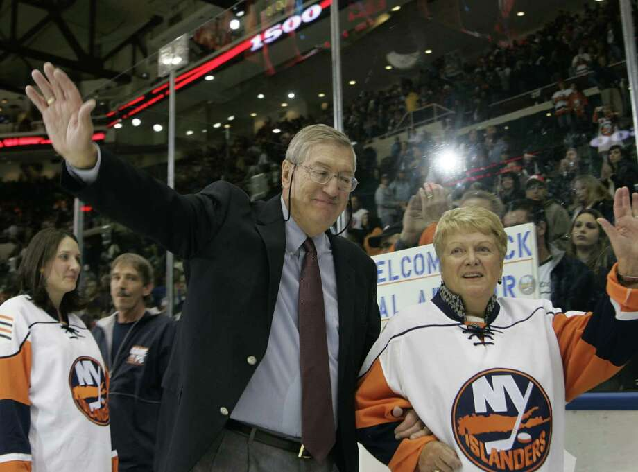 Al Arbour, who coached the New York Islanders to four consecutive Stanley Cup championships and ranks as the NHL's second-most winningest coach, died at 82. Photo: Ed Betz — The Associated Press File Photo  / AP
