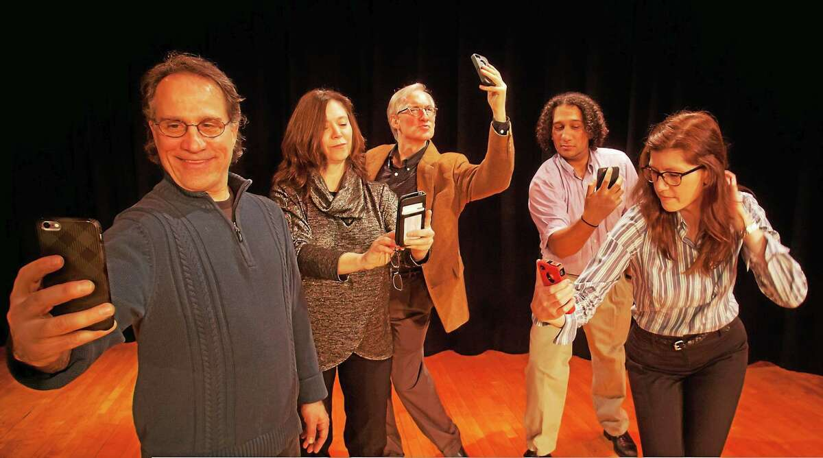 """Photo from www.theartofseeing.com The cast of """"Methuselah's Guide to Online Dating (for those with reading glasses). The show is May 1-2, 8 p.m. at Deep River Town Hall Theater, 174 Main Street, Deep River."""