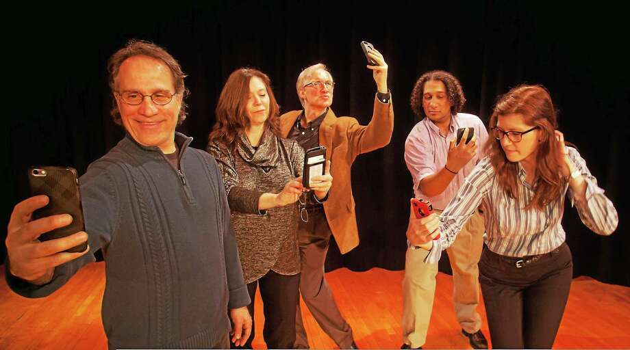 """Photo from www.theartofseeing.com The cast of """"Methuselah's Guide to Online Dating (for those with reading glasses). The show is May 1-2, 8 p.m. at Deep River Town Hall Theater, 174 Main Street, Deep River. Photo: Journal Register Co."""