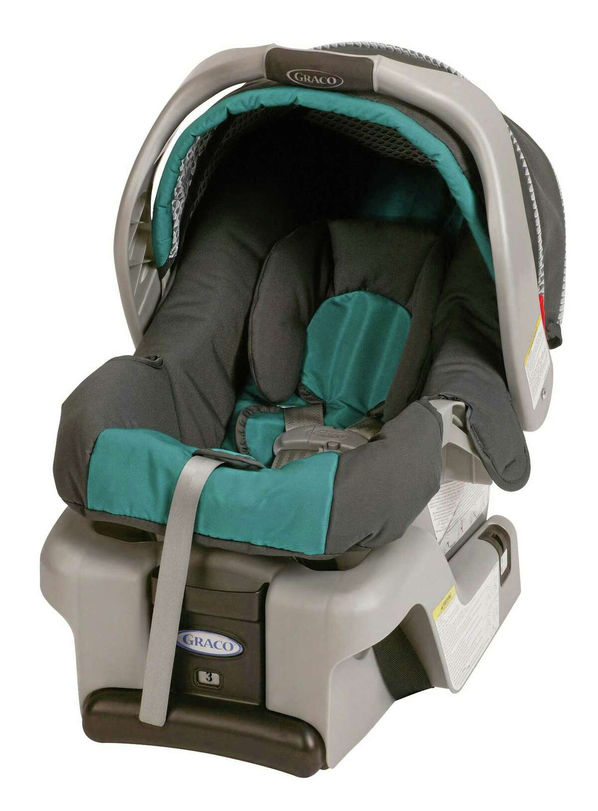 This undated photo provided by Graco Childrenís Products shows a SnugRide Classic Connect infant car seat. Graco Children's Products is recalling 1.9 million infant car seats, bowing to demands from U.S. safety regulators in what is now the largest seat recall in American history. (AP Photo/Graco Childrenís Products)