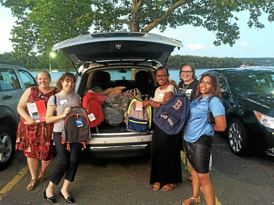 The Middlesex United Way Young Leaders Society held a school supply drive to support local families struggling with back-to-school costs recently. Photo: Courtesy Photo