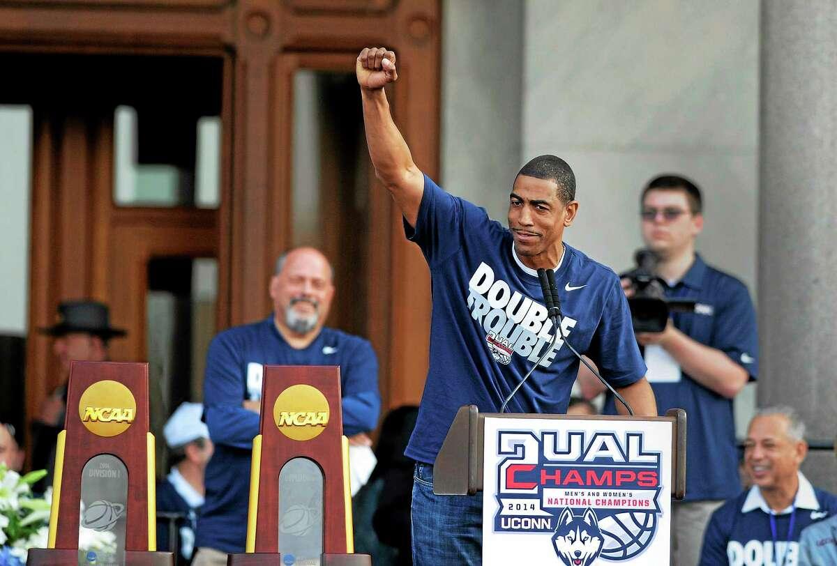 "Amid rumors, UConn men's basketball coach Kevin Ollie says he has ""no plans"" to pursue an NBA job."