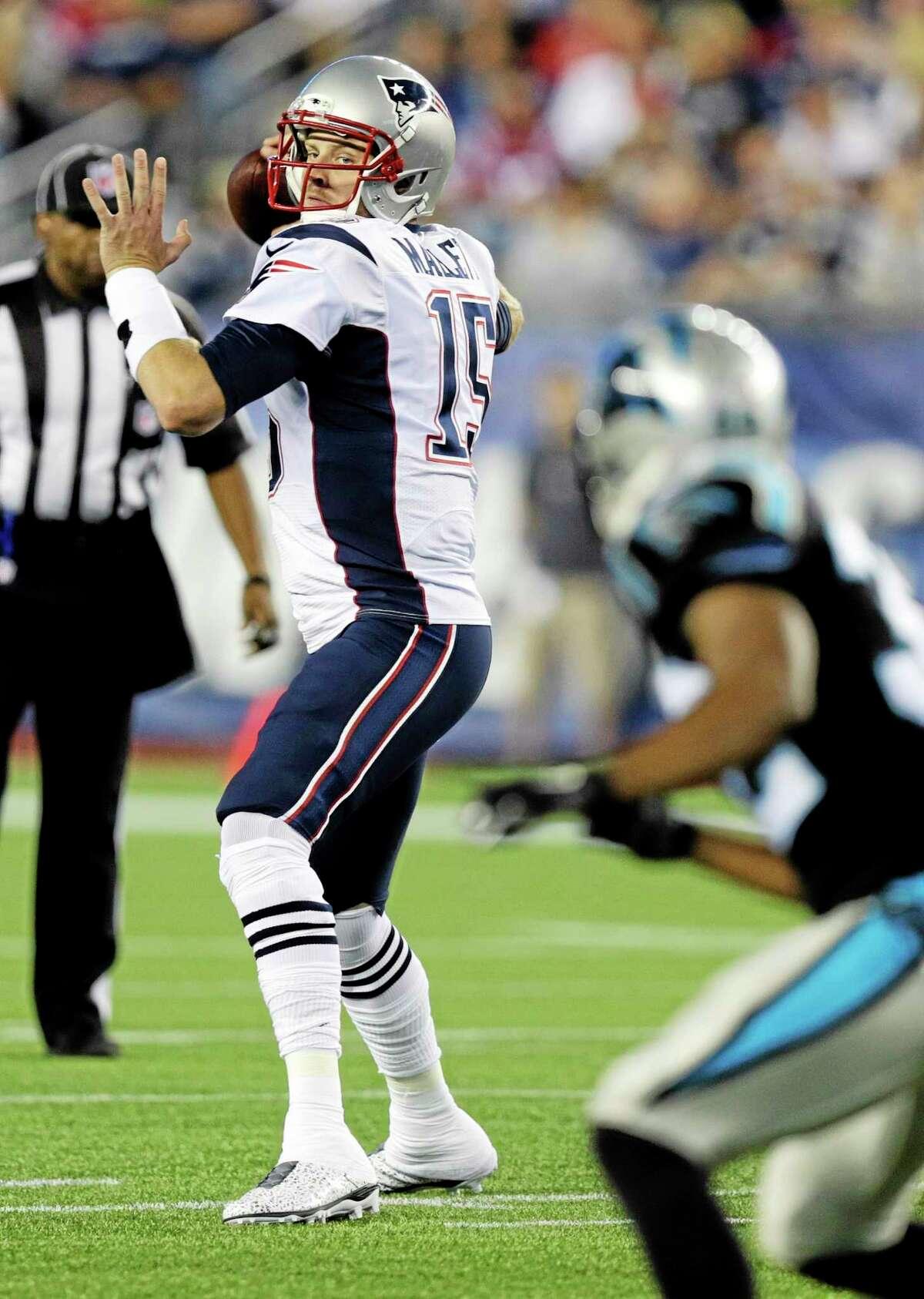 Patriots quarterback Ryan Mallett was traded to the Houston Texans on Sunday.