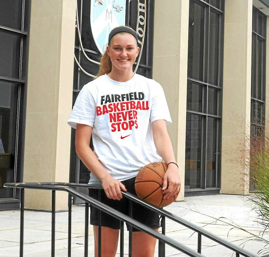 Durham's Kendra Landy is ready to begin her basketball career at Fairfield University. Photo: Jimmy Zanor - Middletown Press