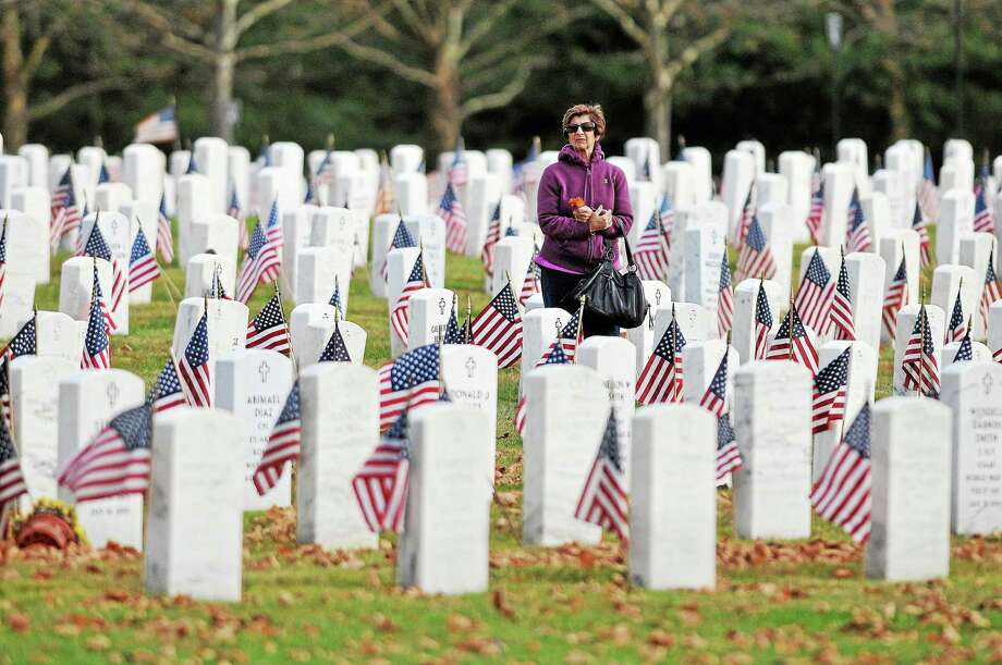 The Connecticut State Veterans Cemetery on Bow Lane in Middletown will be upgraded thanks to a $2.6 million grant. Photo: File Photo  / TheMiddletownPress