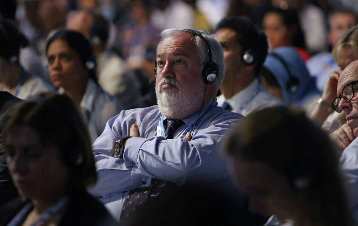 European Union Commissioner for Climate Action and Energy Miguel Arias Canete, from Spain, attends the U.N. Climate Change Conference in Lima, Peru, Dec. 13.