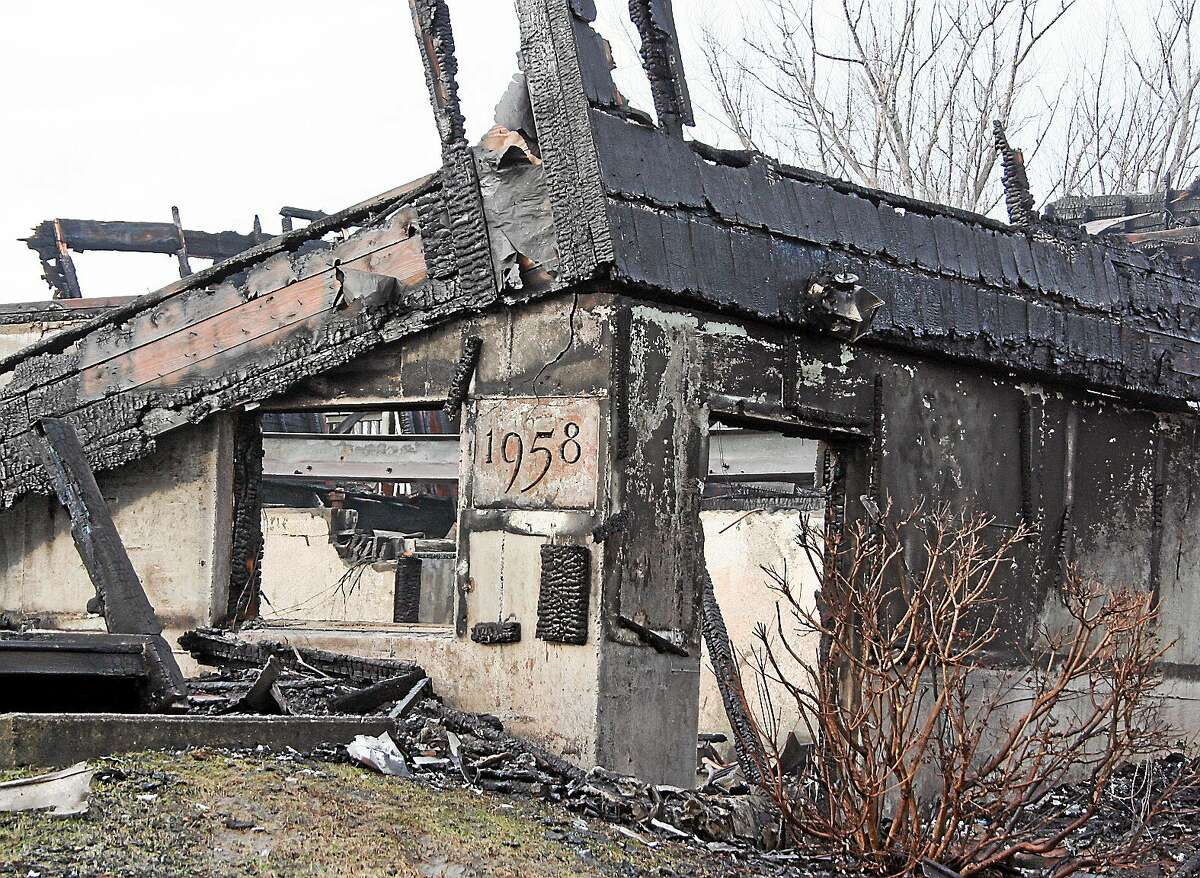 The Pattaconk is shown the day after the fire. The building was built in 1958 and burned down March 14, 2014.