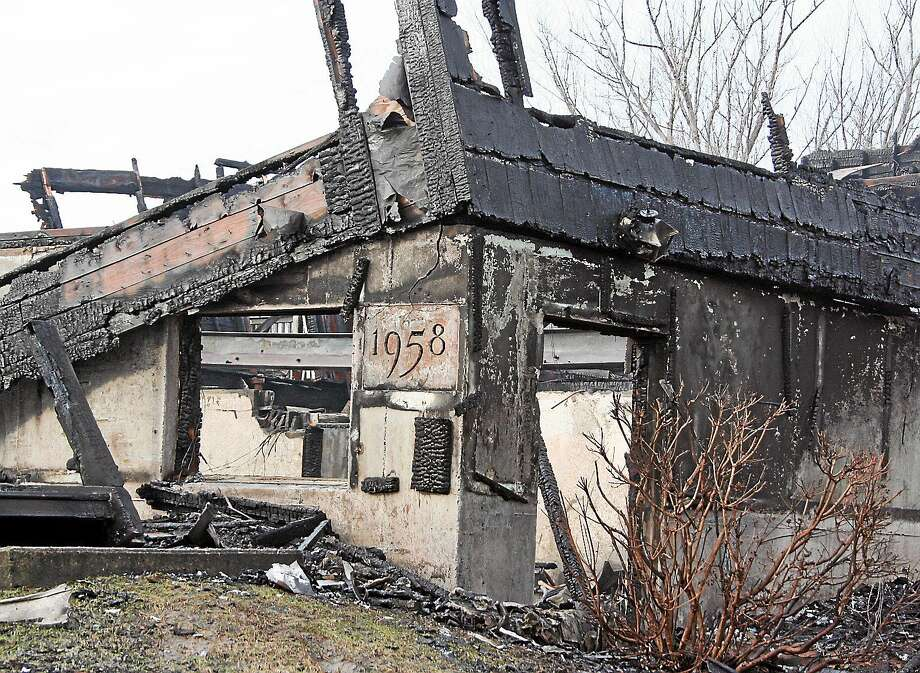 The Pattaconk is shown the day after the fire. The building was built in 1958 and burned down March 14, 2014. Photo: Courtesy Matthew Ouellette