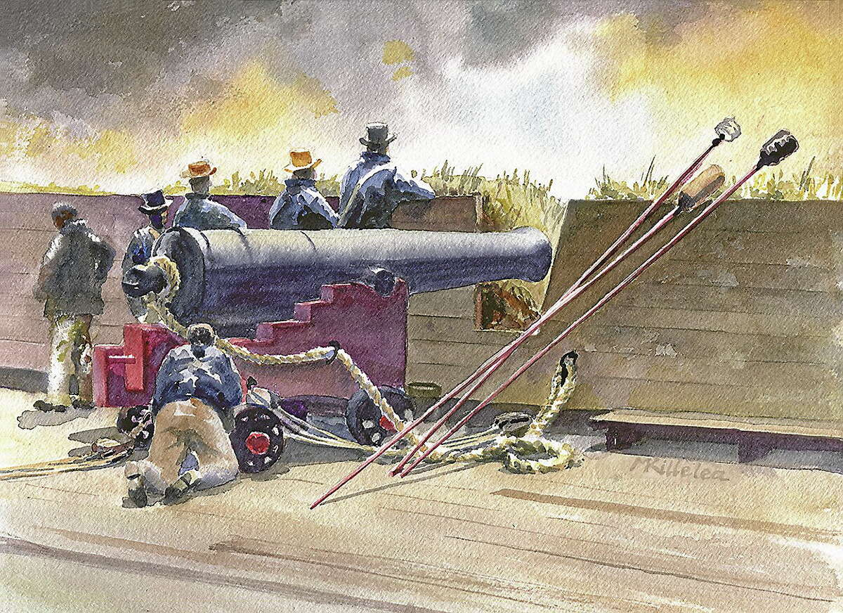 Submitted image courtesy of the artist 39 Pound Defender, by Michael Killelea, is also included in the War of 1812 tribute exhibit in Essex.