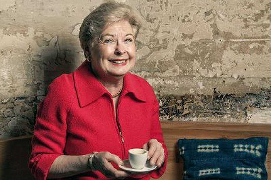 """Patricia Wells, author of the """"Food Lover's Guide to Paris,"""" enjoys a cup of coffee at KBCafeshop. Illustrates TRAVEL-FRANCE (category l), by Joe Yonan, (c) 2014, The Washington Post.  Moved Tuesday,  March 18, 2014. (MUST CREDIT: Photo for The Washington Post by Laura Stevens.) Photo: THE WASHINGTON POST / Laura Stevens"""