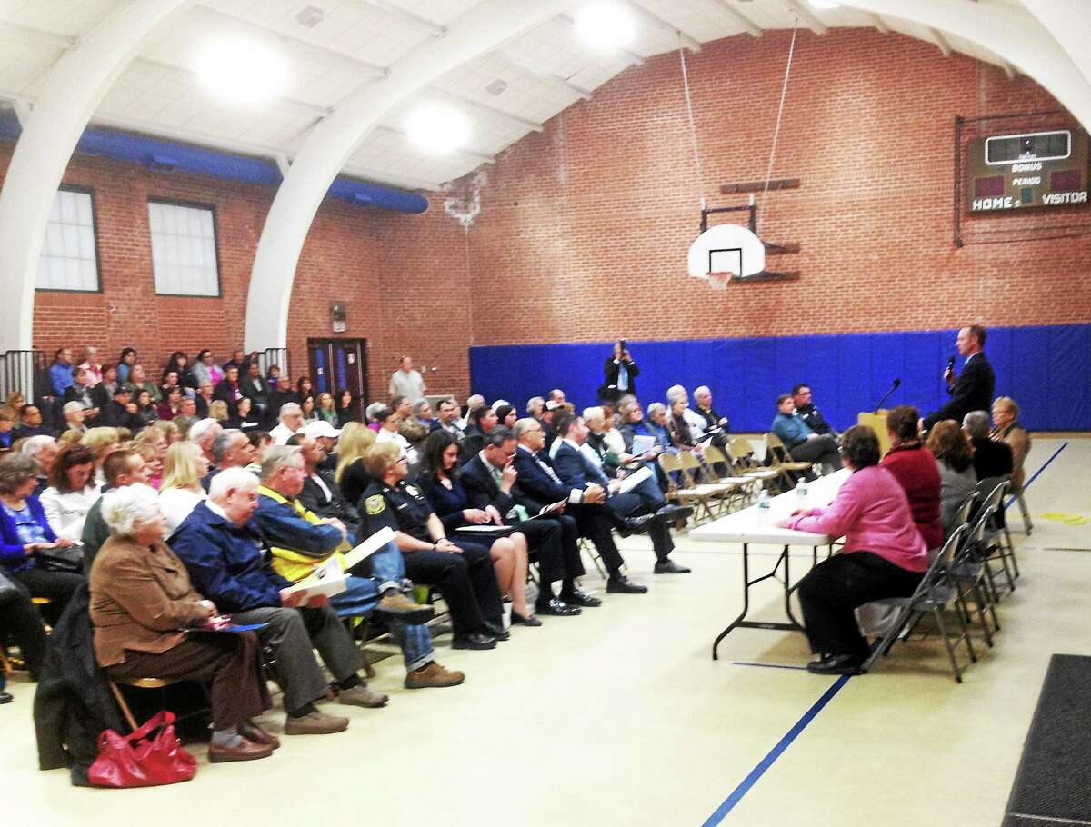 One hundred and fifty residents turned out to speak at Cromwell's public hearing on locating a Gilead Community Services group home in a residential area.