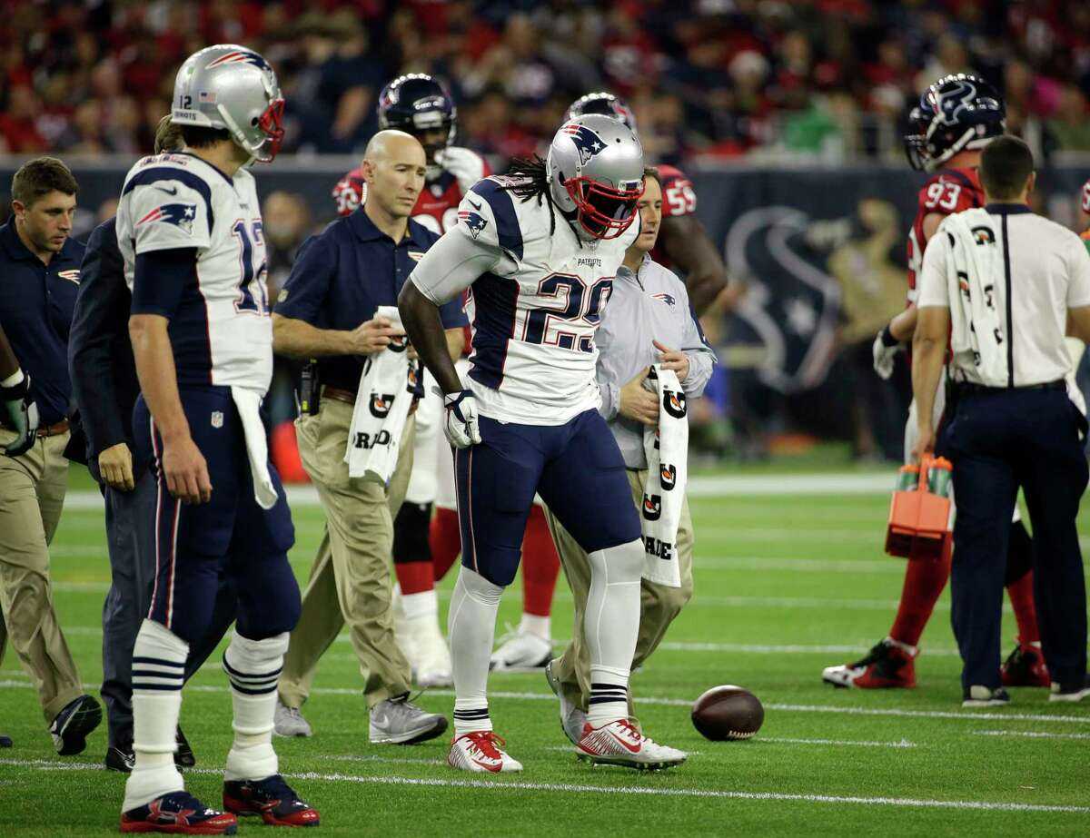 New England Patriots running back LeGarrette Blount (29) is out for the year.