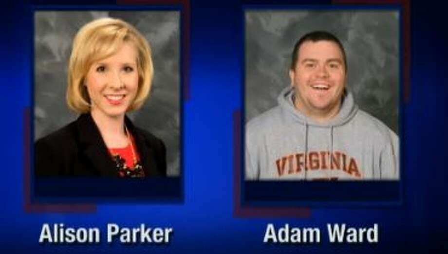 This screenshot from WDBJ-TV7, in Roanoke, Va., shows reporter Alison Parker and photographer Adam Ward. Parker and Ward were killed, Wednesday, Aug. 26, 2015, when a gunman opened fire during a live on-air interview in Moneta, Va. Photo: (Courtesy Of WDBJ-TV7 Via AP) / WDBJ-TV7