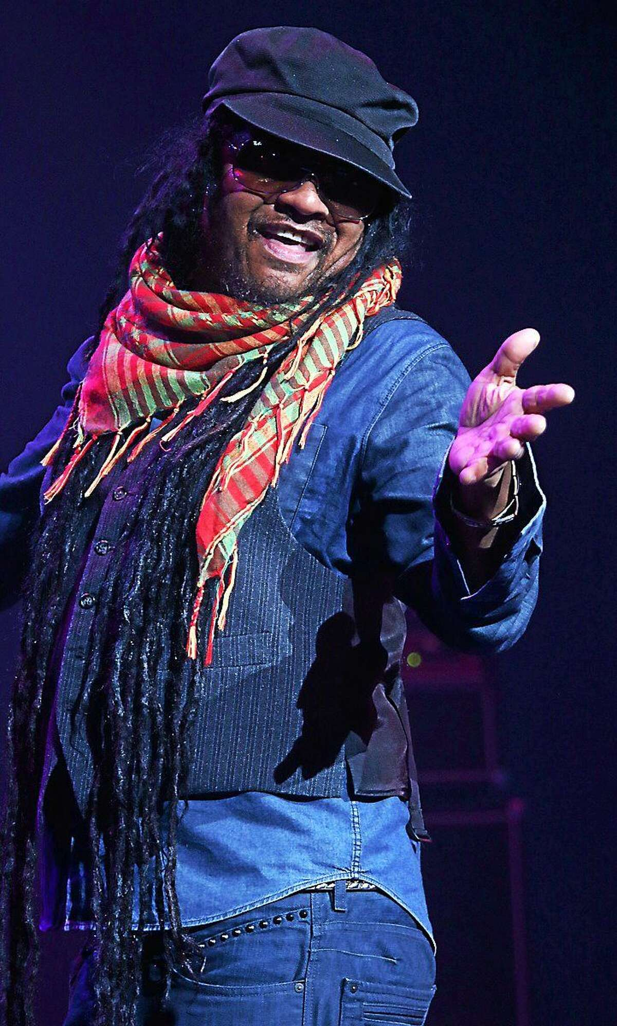 Photo by John Atashian British reggae singer of Jamaican descent, Maxi Priest, is shown entertaining his fans while performing on stage at the Foxwoods Resort & Casino in Mashantucket on April 11, 2015. His show was all part of the ìReggae Riddims Iî concert which also featured performances by Shaggy, Sanchez and more. The ìReggae Riddims IIî event is now scheduled for September 26th and will feature ìliveîperformances by Sean Paul, Beenie Man, Chaka Demus & Pliers, Third World, Lady Shaw and more. For tickets or more information on Reggae Riddums II or to learn about all of the entertainment coming to Foxwoods call 800-200-2882 or you can visit www.foxwoods.com