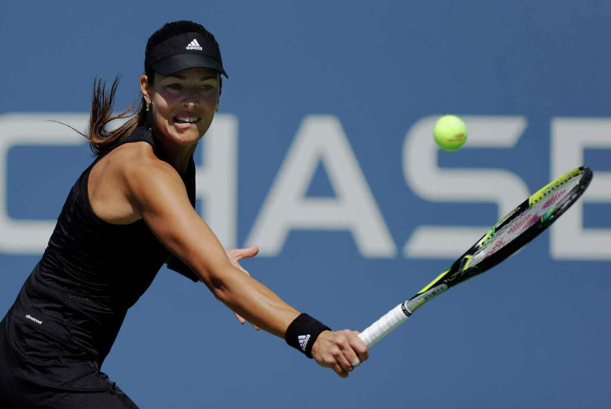Ana Ivanovic returns a shot against Kirolina Pliskova during the second round of the U.S. Open on Thursday in New York.
