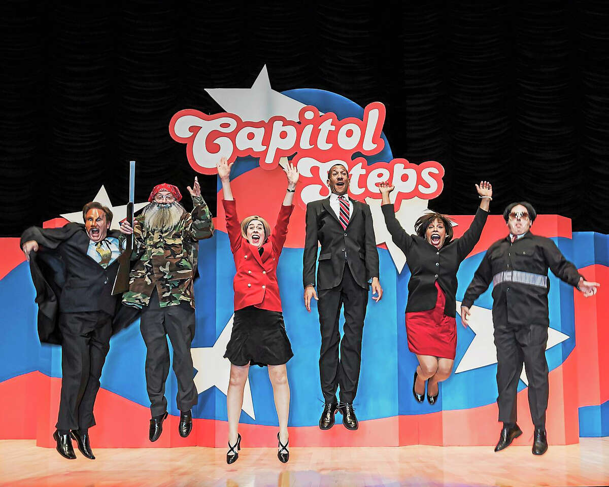 Contributed photo Capitol Steps will perform at the Palace in Waterbury this spring; tickets go on sale Dec. 31.