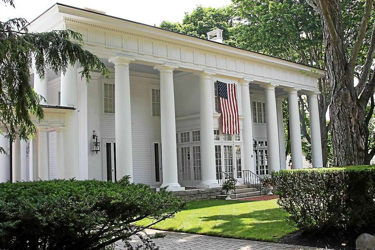 "Contributed photo The Dickinson family home, the stately, columned ""White House"" located at 21 North Main St."