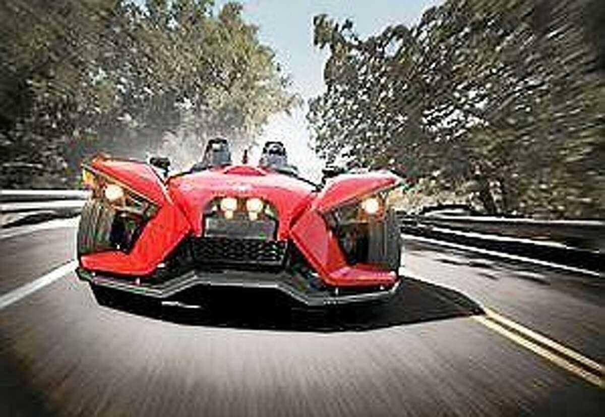 Screenshot via rep-am.com: The three-wheel Slingshot by Polaris Industries.