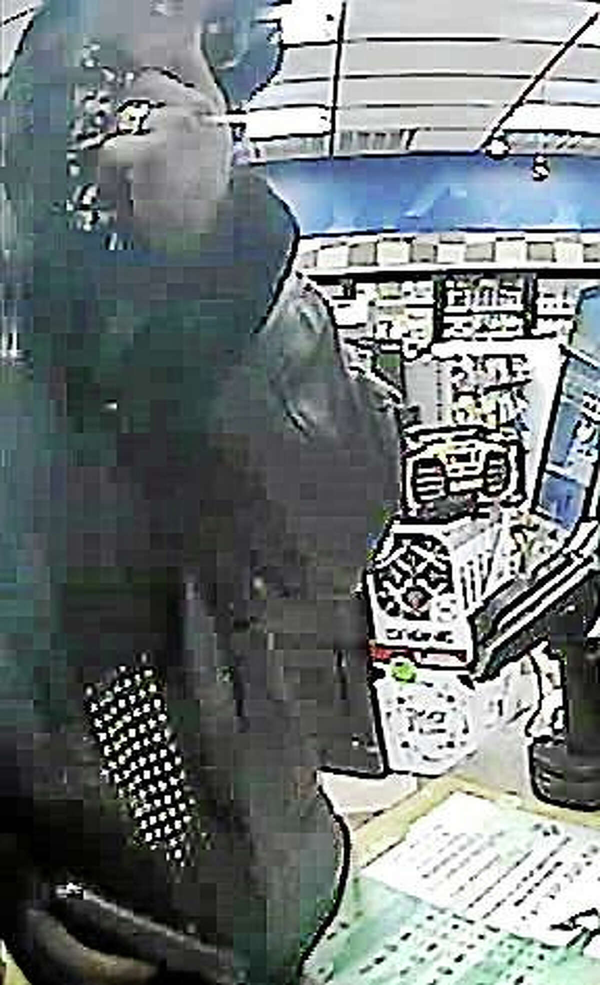 Photo courtesy of the Guilford Police Department Guilford police released this surveillance image of a man who allegedly tried to hold up the Xtramart, 1675 Boston Post Road, early Tuesday morning.