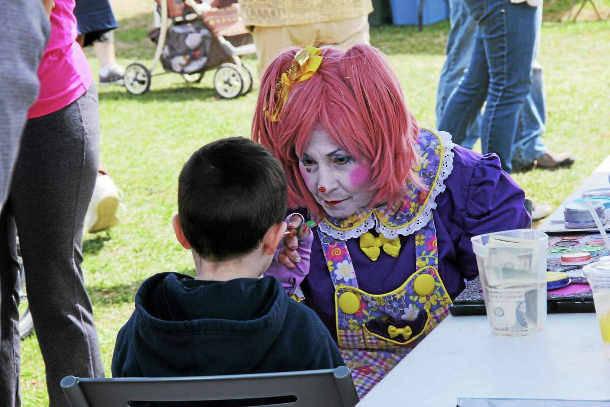 Face painting was very popular with the children.