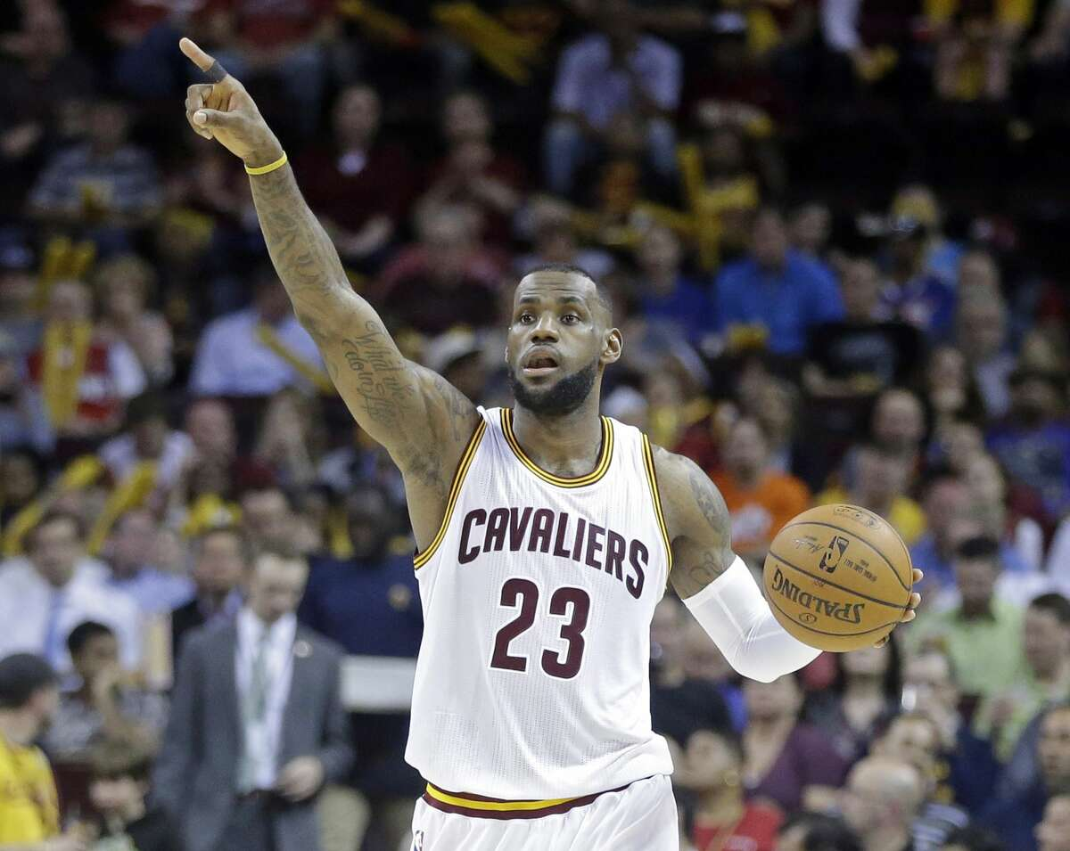 Police say an argument over whether Michael Jordan or LeBron James, above, is a better basketball player ended in a Pennsylvania man's arrest on aggravated assault and other charges.