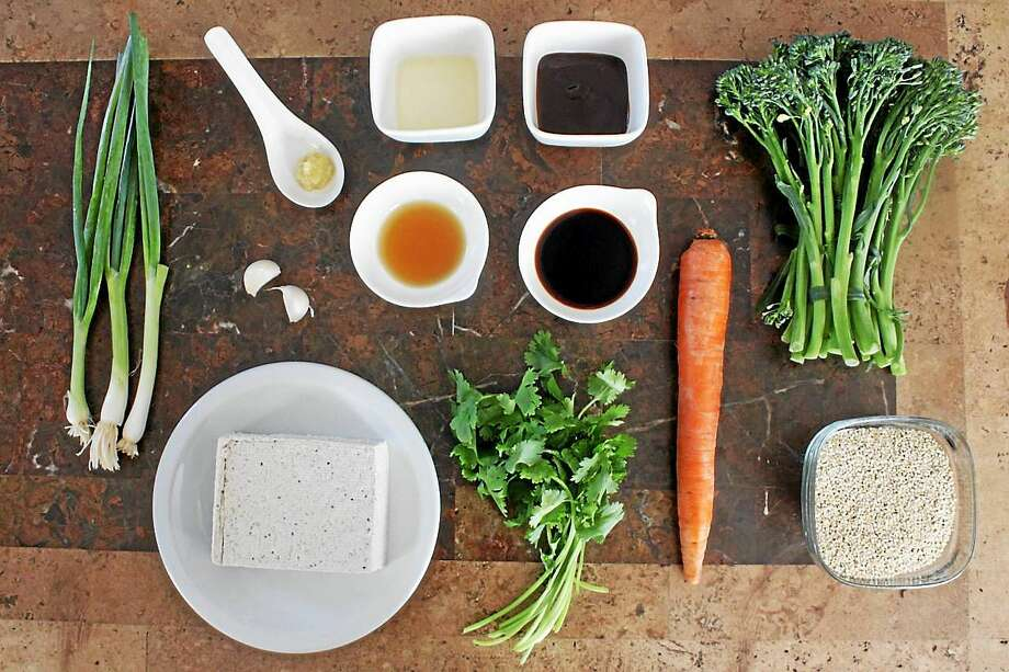 Garlic sauce need not include chicken or beef broth. This vegan recipe is flavored with vegetable stock. Photo: Courtesy I.O.N. Restaurant