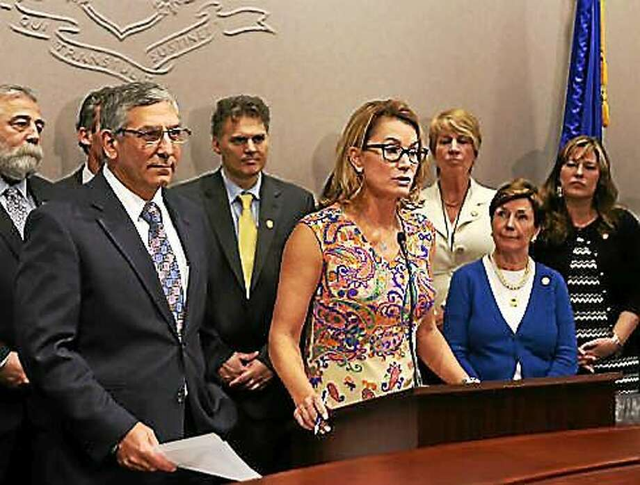 Republican leaders Themis Klarides and Len Fasano Photo: (CHRISTINE STUART FILE PHOTO)