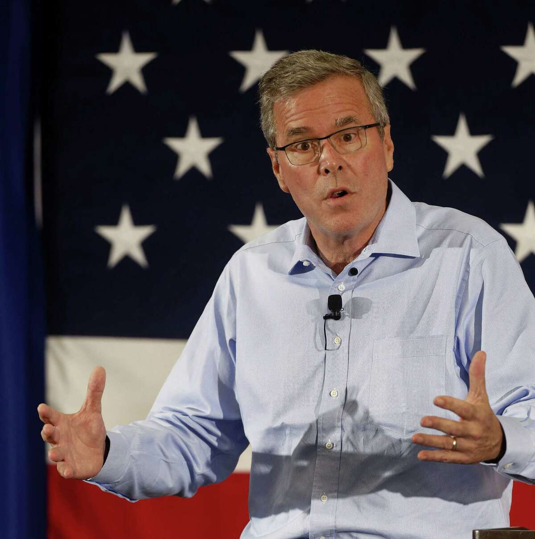 Former Florida Gov. Jeb Bush speaks at a Republican Leadership Summit on April 17, 2015, in Nashua, N.H.