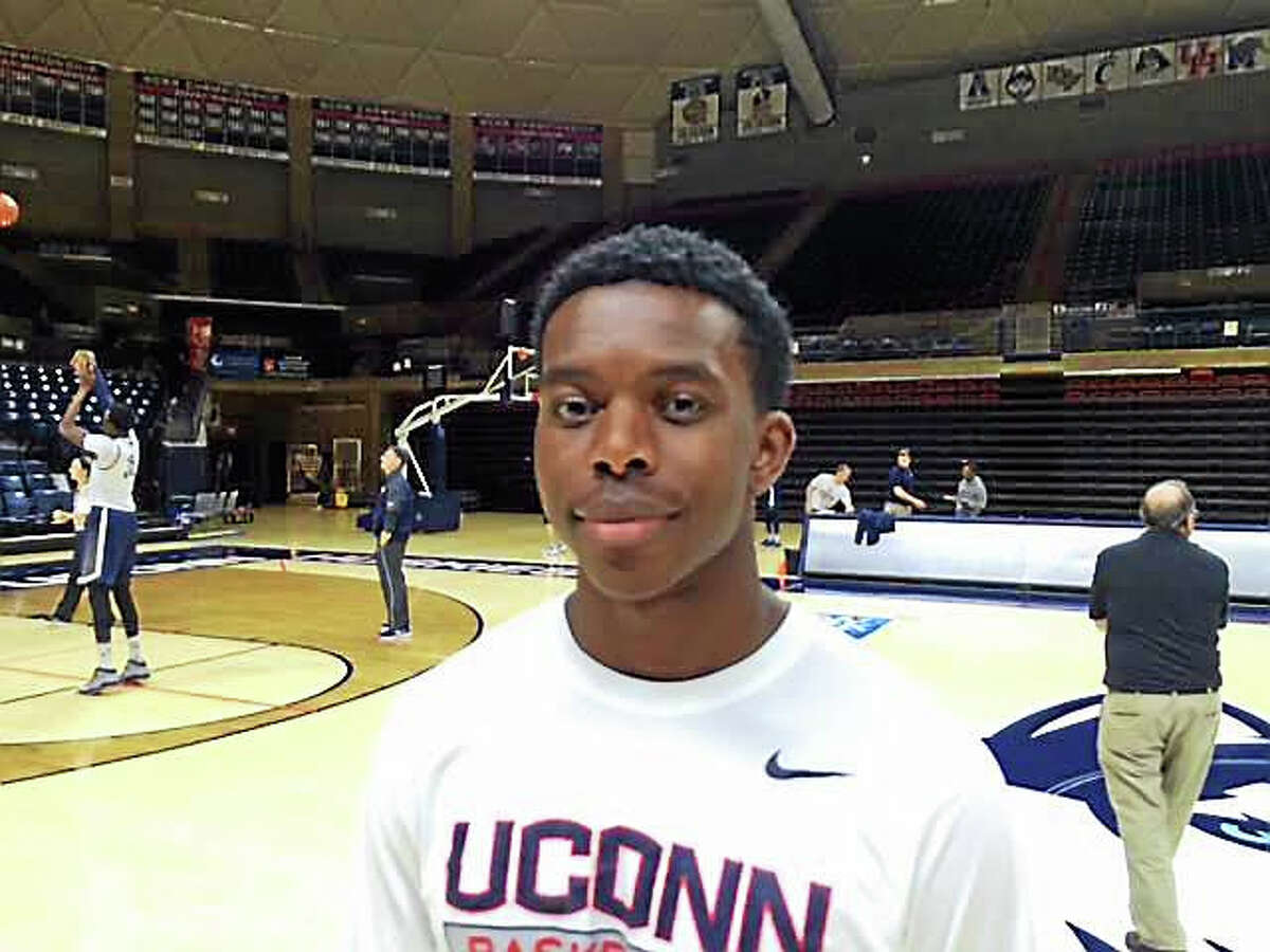 A year after being cut, Branford's Restinel Lomotey worked his way onto the UConn men's basketball team as a walk-on.