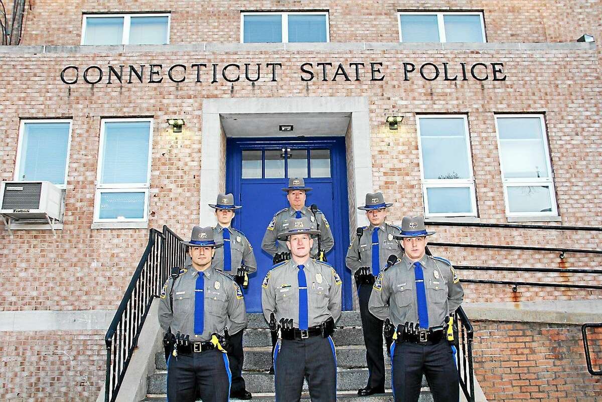 Connecticut State Police Academy graduates Brian Bonapace, Benjamin Borelli, Christian Londono, Kazimera Morse and William Pease have joined the Troop F barracks in Westbrook.