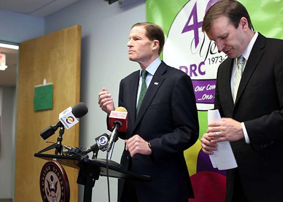 U.S. Senators Richard Blumenthal and Chris Murphy.