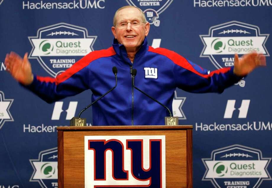 Giants head coach Tom Coughlin. Photo: The Associated Press  / AP