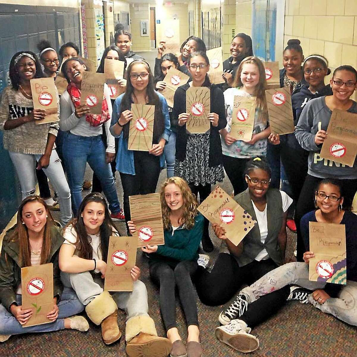 In April, Middletown students participated in Rushford's Peer leadership program, Rams In Action at Woodrow Wilson Middle School, which reminds adults not to provide alcohol to teens. Cromwell's recreation staff are hoping to create a mentoring program based on a similar model.
